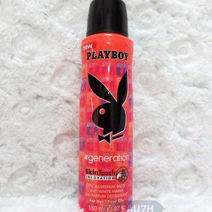 Xịt khử mùi toàn thân Playboy Generation nữ mới 2016