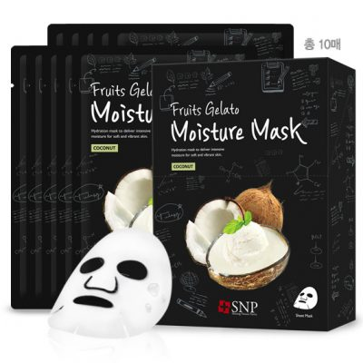 Bộ Mặt Nạ Dưỡng Ẩm Da Tinh Chất Dừa – SNP Fruits Gelato Moisture Mask