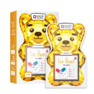Bộ Mặt Nạ Dưỡng Da Trắng Sáng Gấu Băng Mát Lạnh – SNP Ice Bear Vitamin Mask