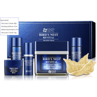 Bộ Sản Phẩm SNP Bird's Nest Revital Recovery – Cream Special Set