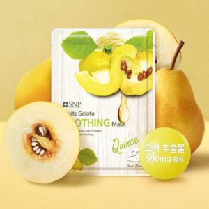 Bộ Mặt Nạ Dưỡng Ổn Định Da Nhạy Cảm Tinh Chất Lê – SNP Fruits Gelato Soothing Mask
