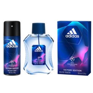Combo Nước Hoa và Xịt Khử Mùi Adidas Champions Victory Edition